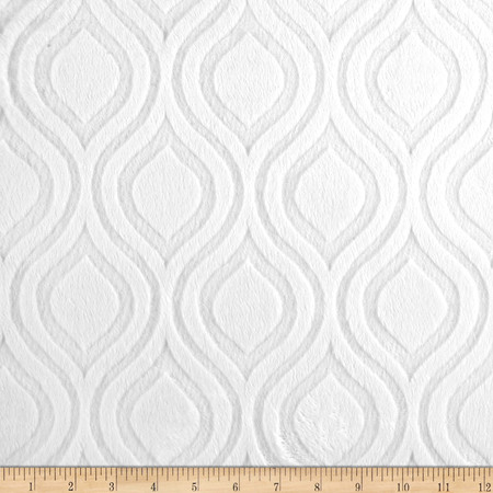 Premier Prints Embossed Marquise Cuddle Snow White Fabric By The Yard