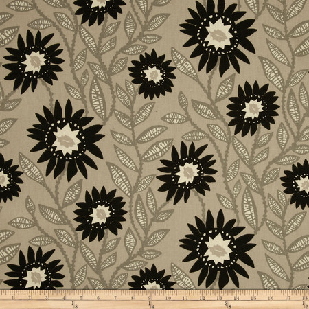 Premier Prints Fenton Onyx/Natural Fabric By The Yard