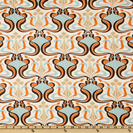 Premier Prints Glam Sweet Potato/Natural Fabric
