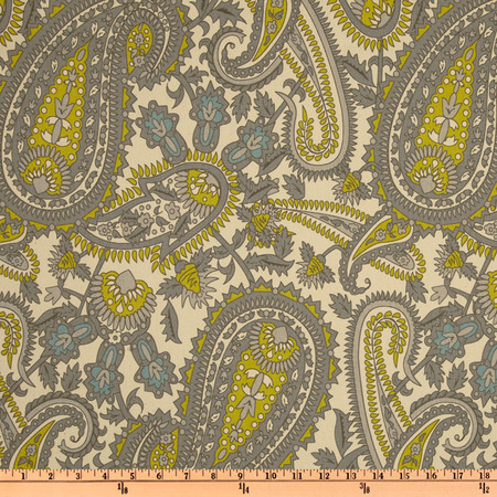 Premier Prints Henna Paisley Summerland Natural Fabric
