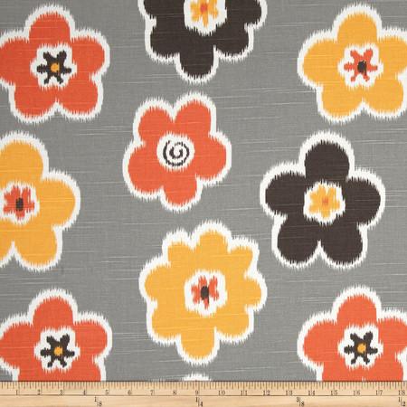 Premier Prints Ikat Petals Slub Chili Pepper Fabric