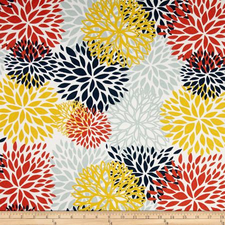 Premier Prints Indoor/Outdoor Blooms Perla Fabric By The Yard