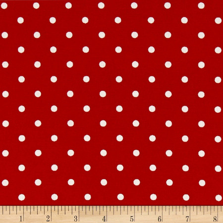 Premier Prints Indoor/Outdoor Mini Dot Rojo Fabric By The Yard
