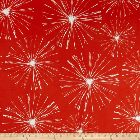 Premier Prints Indoor/Outdoor Sparks Orange Fabric By The Yard