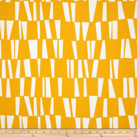 Premier Prints Indoor/Outdoor Sticks Citrus Yellow Fabric