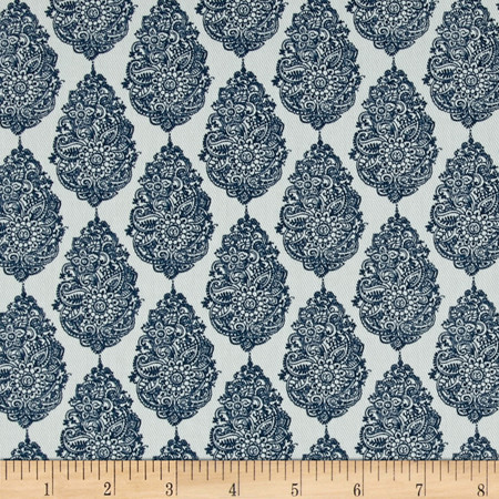 Premier Prints Jersey Twill Premier Navy Fabric By The Yard
