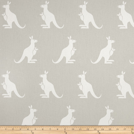 Premier Prints Kangaroo Twill French Grey/White Fabric By The Yard