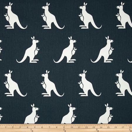 Premier Prints Kangaroo Twill Gunmetal/White Fabric By The Yard