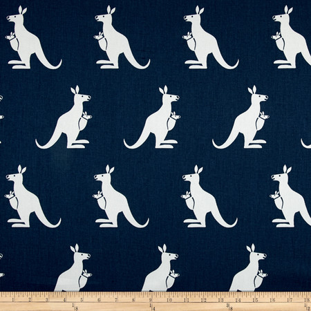 Premier Prints Kangaroo Twill Premier Navy/White Fabric By The Yard