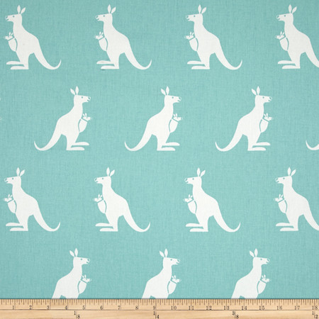 Premier Prints Kangaroo Twill Canal/White Fabric By The Yard