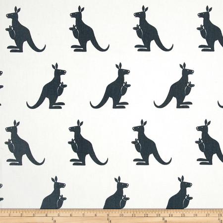 Premier Prints Kangaroo Twill White/Gunmetal Fabric By The Yard