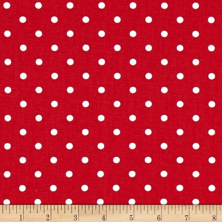 Premier Prints Mini Dots Lipstick/White Fabric By The Yard