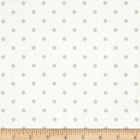 Premier Prints Mini Dots Twill White/French Grey Fabric By The Yard
