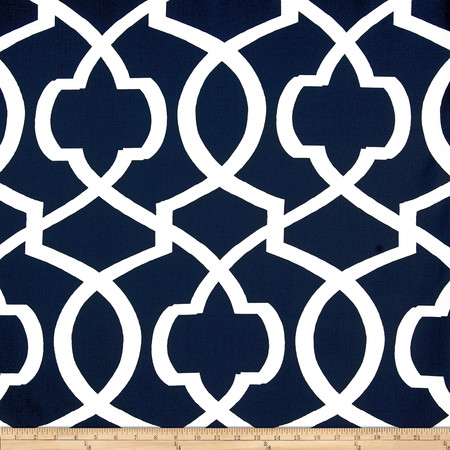 Premier Prints Morrow Navy/White Fabric By The Yard