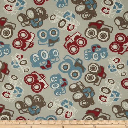 Premier Prints Off Road Natural/Pewter Fabric By The Yard