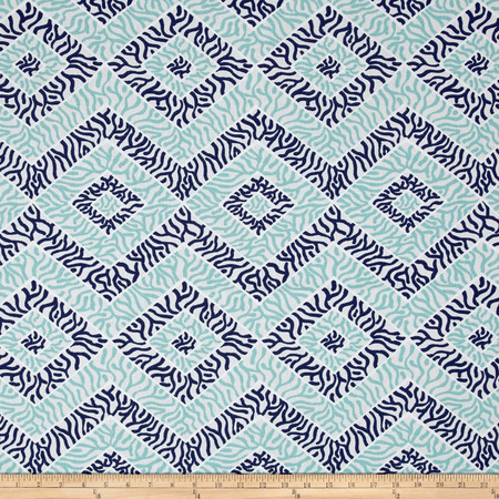 Premier Prints Sea Diamond Vintage/Indigo/Canal Fabric By The Yard