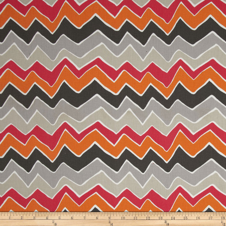 Premier Prints See Saw Twill Sherbet Fabric By The Yard