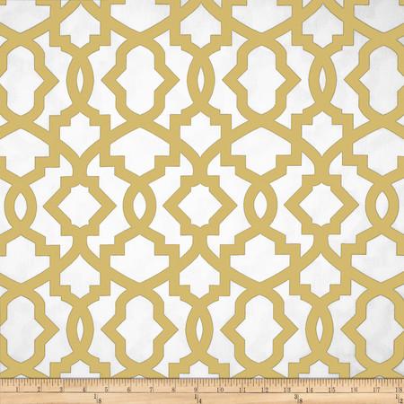 Premier Prints Sheffield Saffron Yellow Fabric By The Yard