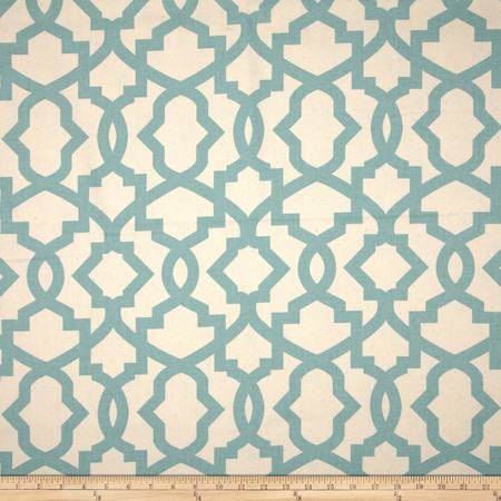 Premier Prints Sheffield Village Blue/Natural Fabric By The Yard
