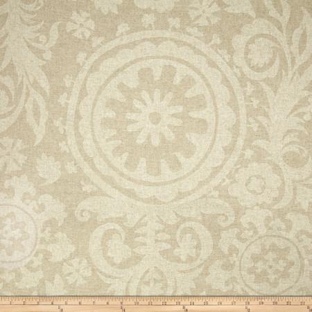 Premier Prints Suzani Blend Oatmeal/Cloud Fabric