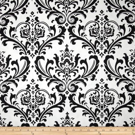 Premier Prints Traditions Twill Black Fabric