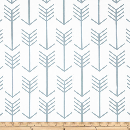 Premier Prints Twill Arrow White/Cashmere Blue Fabric By The Yard
