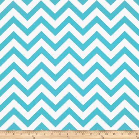 Premier Prints Zig Zag Twill Girly Blue Fabric By The Yard