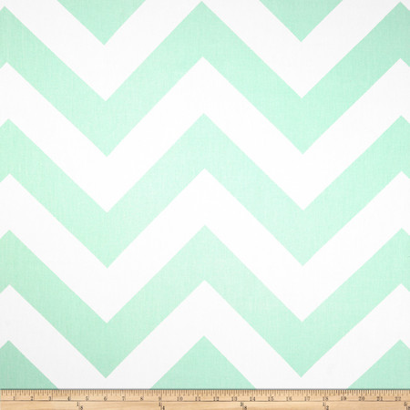 Premier Prints Zippy Chevron Mint Fabric By The Yard