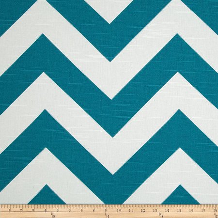 Premier Prints Zippy Chevron Slub Aquarius Fabric By The Yard