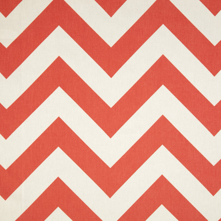 Premier Prints Zippy Chevron Coral Fabric By The Yard