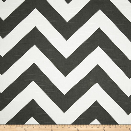 Premier Prints Zippy Slub Charcoal Fabric By The Yard