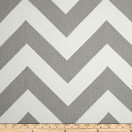 Premier Prints Zippy Chevron Twill Storm Fabric By The Yard