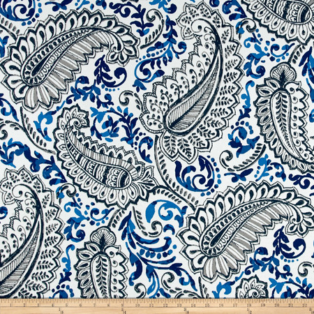 Premier Prints  Shannon Indoor/Outdoor Oxford/Cobalt Fabric By The Yard