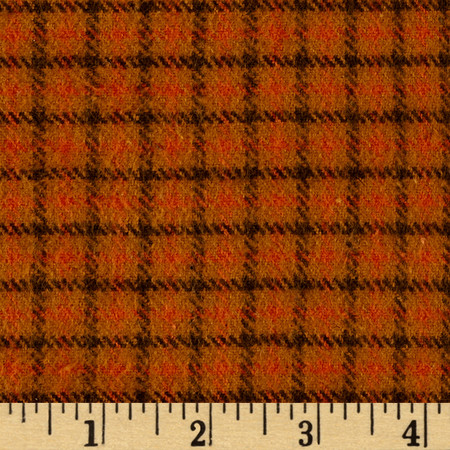 Primo Flannel Harvest Window Pane Plaid Multi Fabric By The Yard
