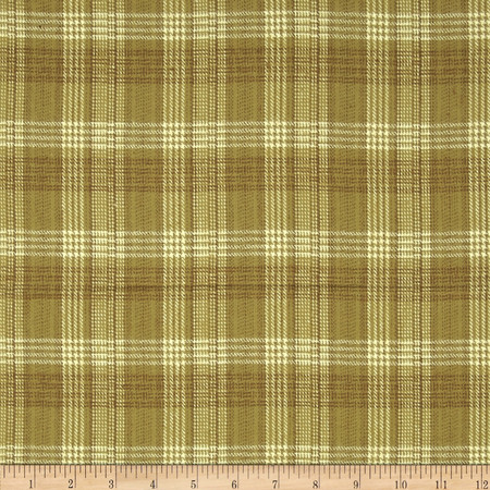 Primo Plaids Flannel Plaid Tan Fabric