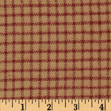 Primo Plaids V Flannel Gingham Red Fabric By The Yard