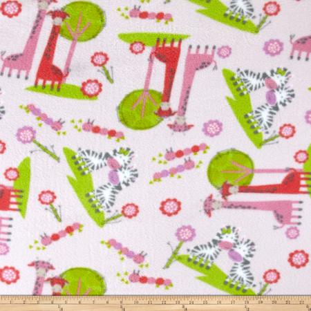 Printed Fleece Noah's Ark White Fabric