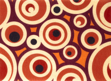 Printz Felt 9'' x 12'' Craft Cut Brown Dots Fabric By The Yard