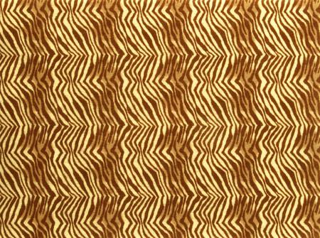 Printz Felt 9'' x 12'' Craft Cut Brown Zebra Fabric
