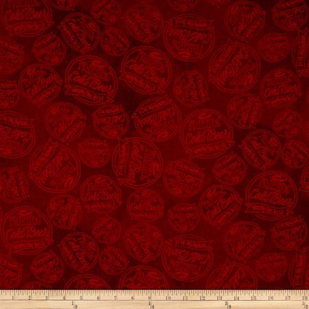 Pub Crawl Dot Dark Red Fabric By The Yard