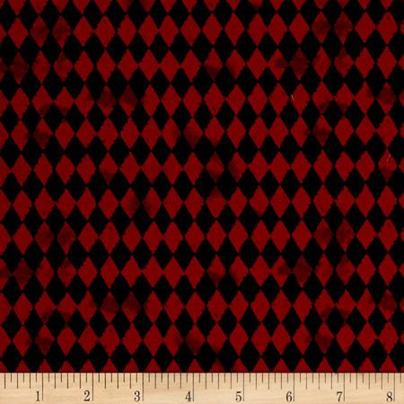 Pub Crawl Geometric Dark Red Fabric By The Yard
