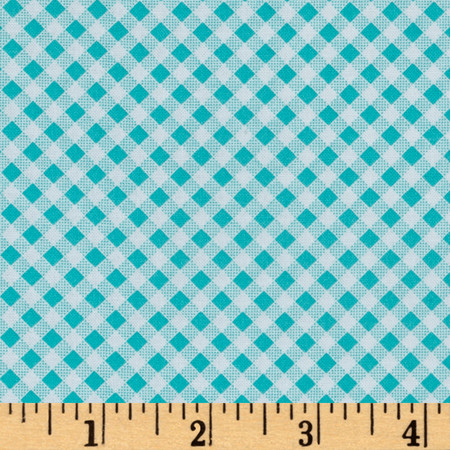 Quilt Camp Bias Check Blue Fabric By The Yard