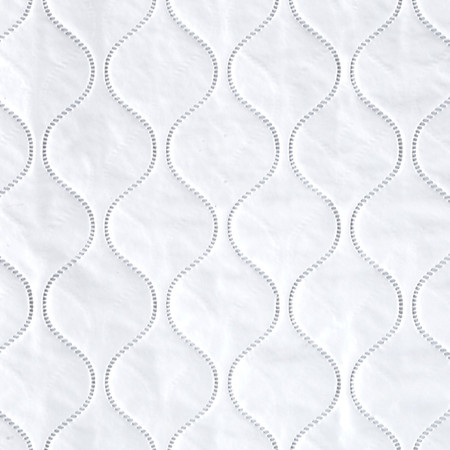 Quilted Vinyl Solid White Fabric By The Yard