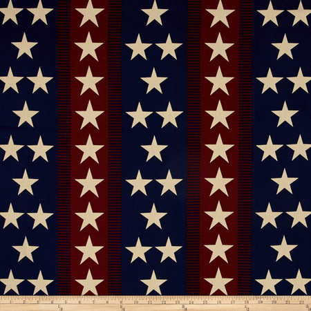 Quilts of Valor Star Stripe Vintage Fabric
