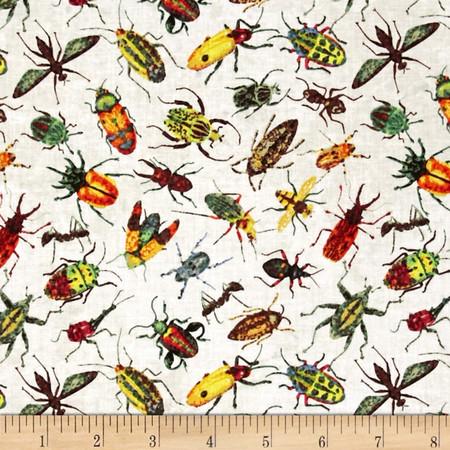 Rainforest Romp Bugs Cream Fabric