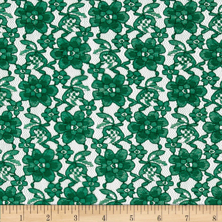 Raschelle Lace Hunter Fabric By The Yard