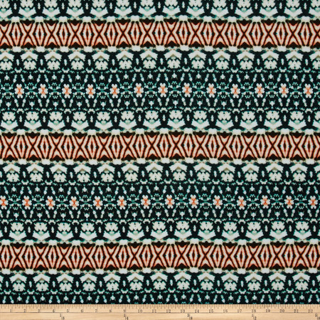 Rayon Challis Aztec Multi Fabric