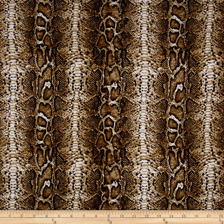 Rayon Jersey Knit Ball Python Multi Fabric