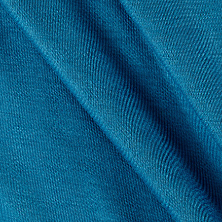 Rayon Spandex Jersey Knit Solid Aegean Blue Fabric By The Yard