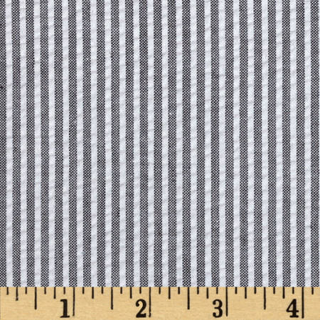 Regatta Seersucker Black Fabric